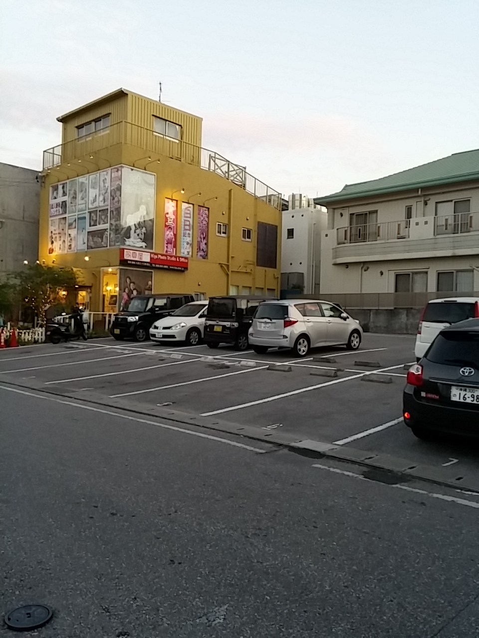 ローソン裏駐車場